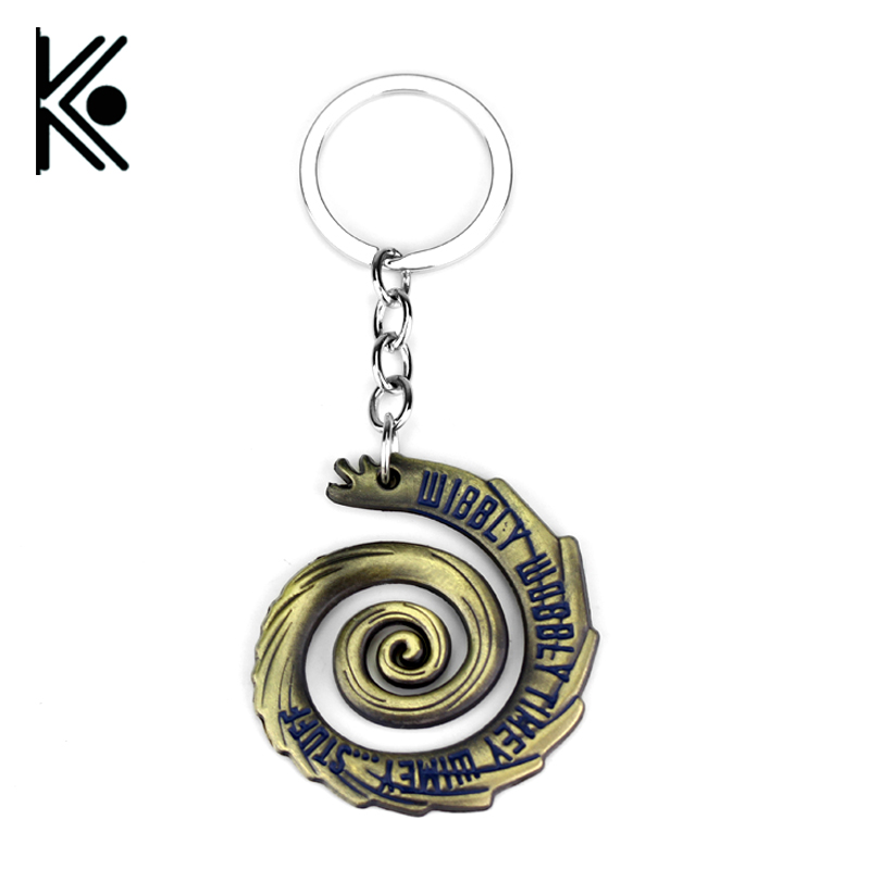 free shipping Doctor Who Keychain Wibbly Wobbly Timey Wimey Hot TV Series Key Ring For Women Men Jewelry