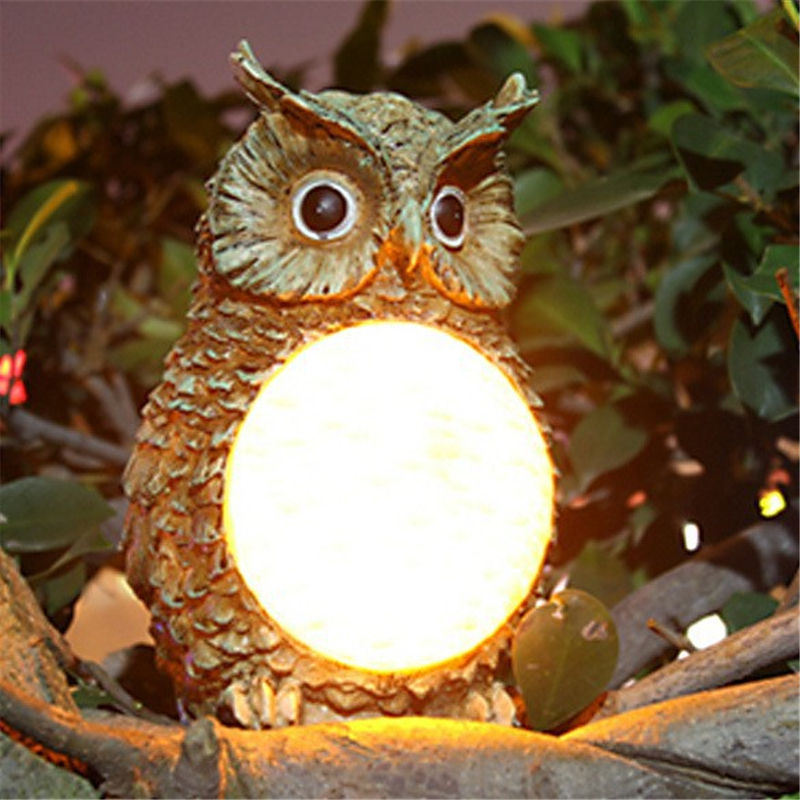 New Cute Solar Owl Light Waterproof Outdoor Garden Yard Decorative Bird Lamp Party Light Home Decor Gifts @8 Wwo66 Lights & Lighting