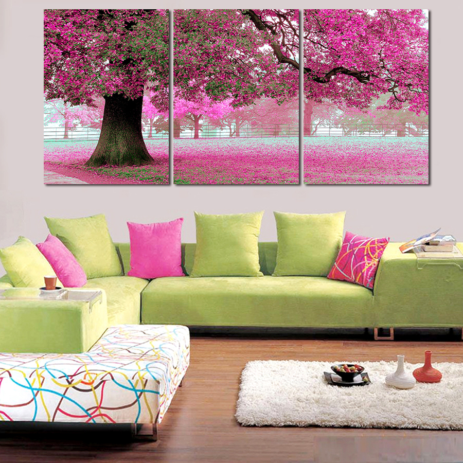 Pink Living Room Set Online Get Cheap Pink Wall Painting Aliexpresscom Alibaba Group