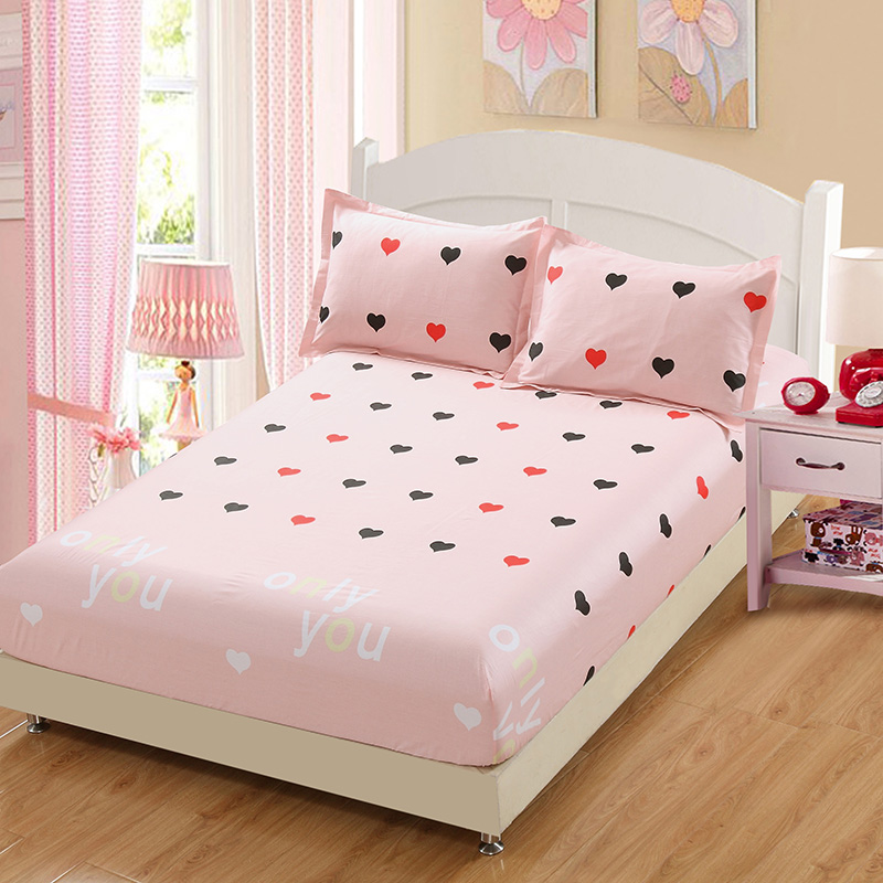 Lovely princess bedding for adult children Bed Covers Mattress Cover fitted Sheet pillows 100% Cotton twin full queen king size