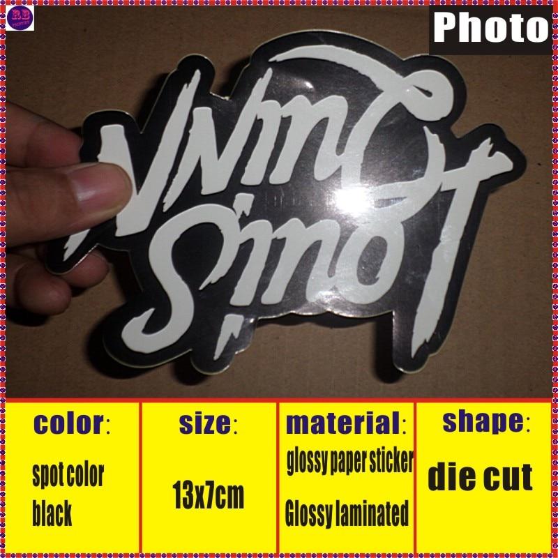 100pcs sticker label printing custom die cut