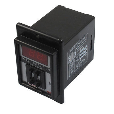 AC/DC 24V 0.1-9.9 Minute Digital Timer Time Delay Relay 8 Pin ASY-2D b2e 2r 24 0 01s 99h99m twin timer time delay 2 relay output dc ac 12 24v