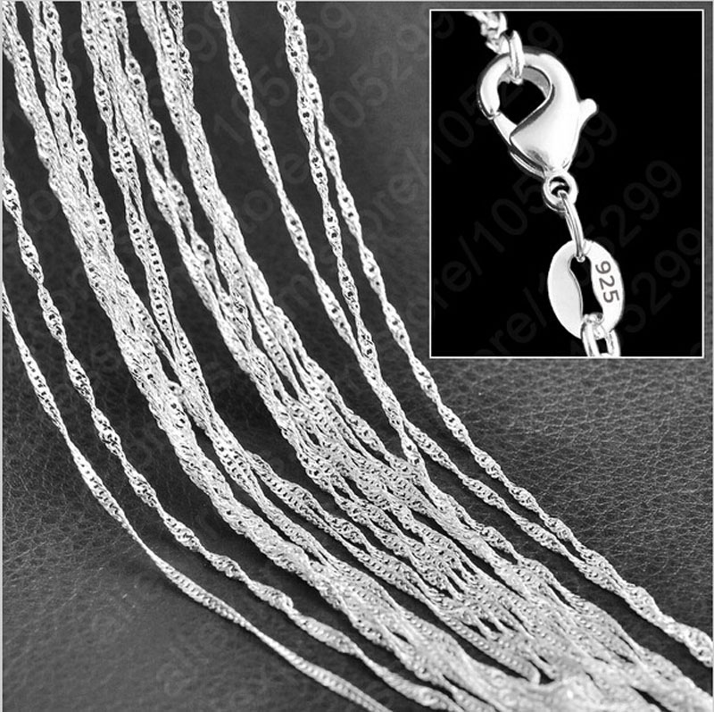 5pcs/lot Silver Water Wave...