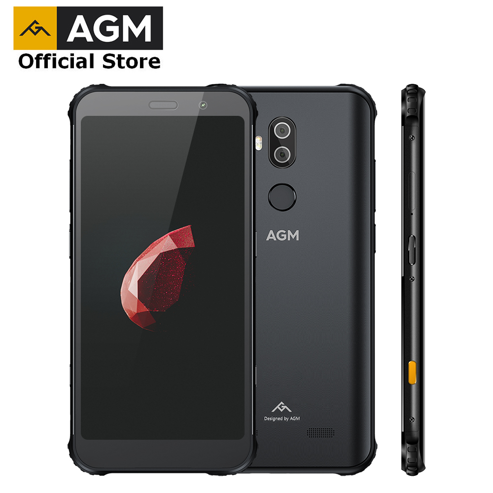OFFICIAL AGM X3 5.99'' 4G Smartphone 8G+64G SDM845 Android 8.1 IP68 Waterproof Mobile Phone Dual BOX Speaker tuned by JBL NFC