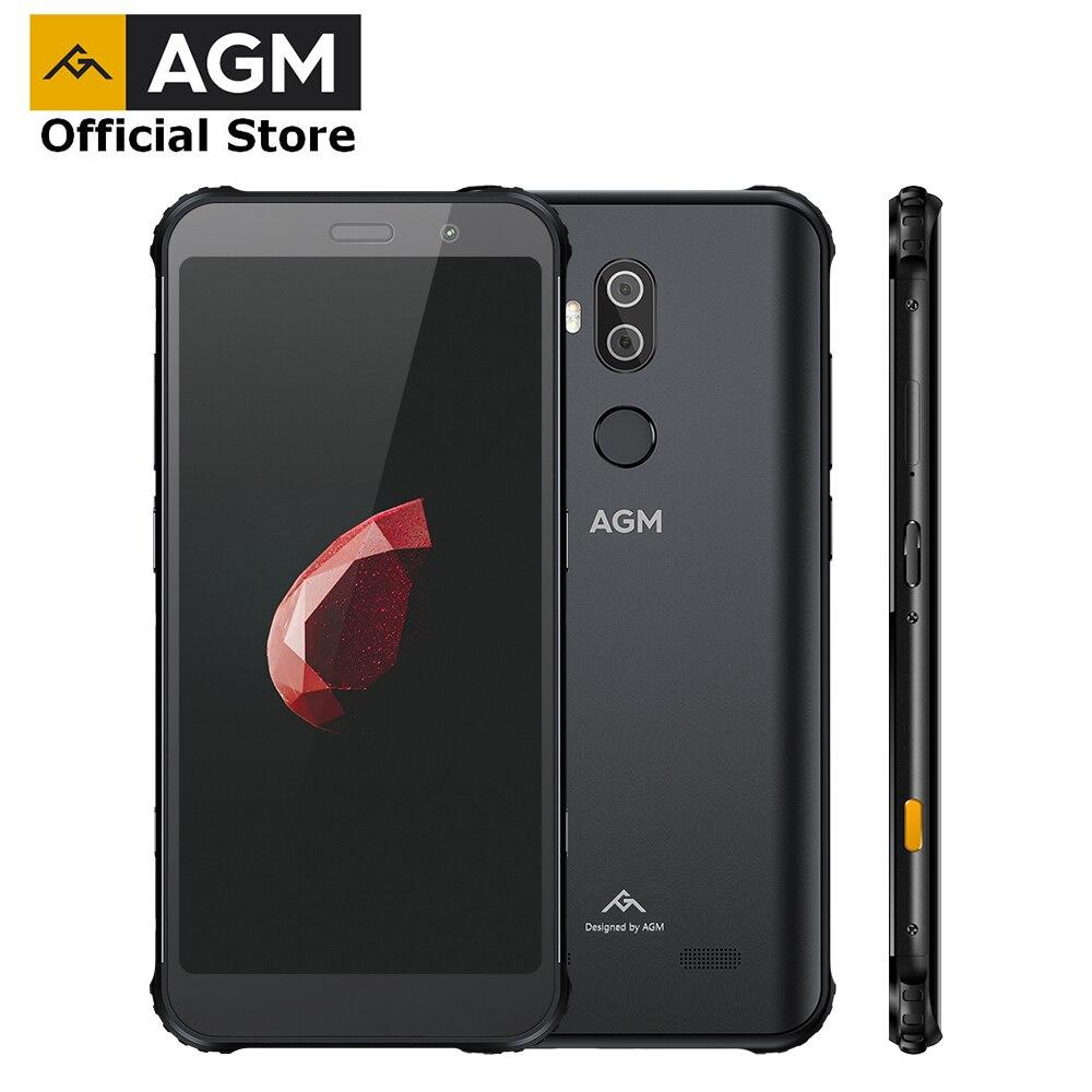 Smartphone officiel AGM X3 5.99 ''4G 8G + 64G SDM845 Android 8.1 IP68 étanche téléphone portable haut-parleur double boîte accordé par JBL NFC