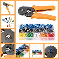 800pcs Electrical Crimp Connector Terminal Kit Set With Ratcheting Ferrule Crimping Plier Tool For End Sleeves