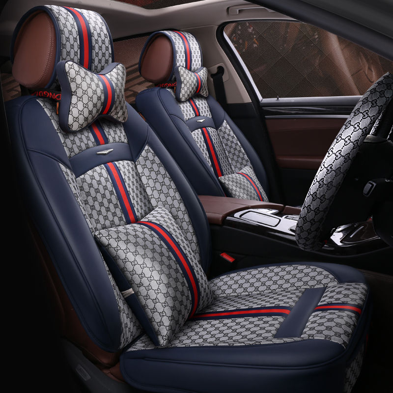 New Customization Car Seat Cover General Cushion Artificial Leather Car pad Car Styling For BMW Audi