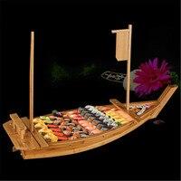 المطبخ الياباني السوشي قوارب السوشي أدوات طراز سفينة خشبية الخشب اليدوية بسيطة سفينة الساشيمي متنوعة الأطباق الباردة شريط أدوات المائدة-في أدوات السوشي من المنزل والحديقة على