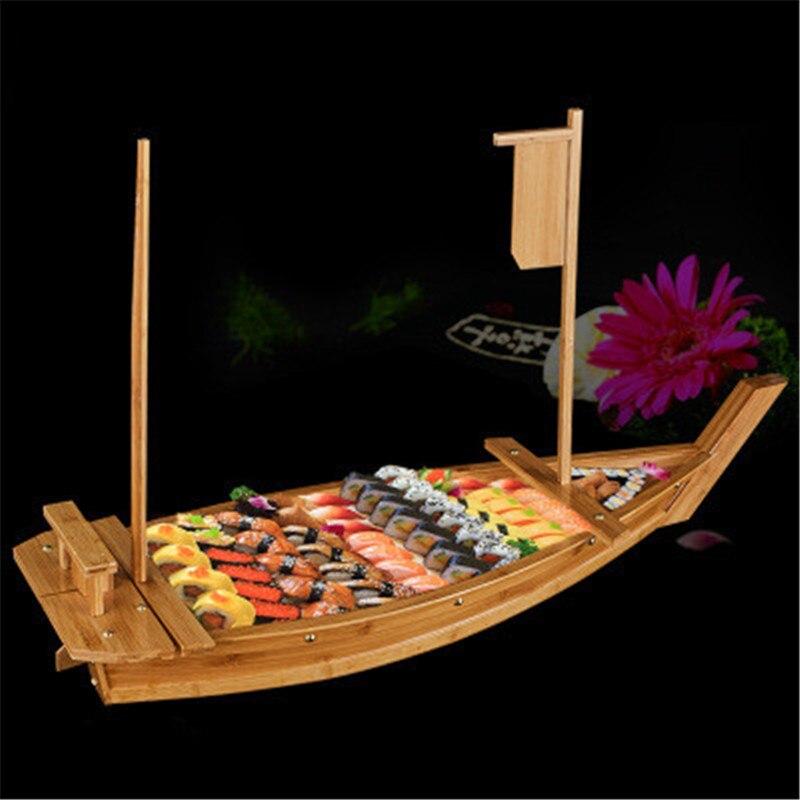 Cuisine japonaise Sushi bateaux Sushi outils en bois bateau modèle bois fait à la main Simple navire Sashimi assortiment plats froids vaisselle Bar