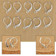 Free Fast Ship 100Pcs Making Jewelry Findings Sterling Silver Color Hoop Circle Hook Earring Earwires DIY Jewelry Made Beads