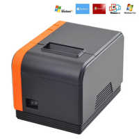 Kleine Ticket Thermische Drucker 58mm USB POS Erhalt Thermische Drucker mit USB Port Geräuscharm Für Restaurant Supermarkt EU STECKER