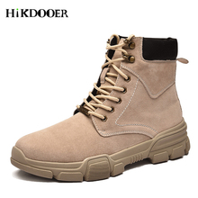 Leather Autumn Men Fashion Boots Waterproof Ankle Martin Outdoor Working Safety botas masculina Male Shoes