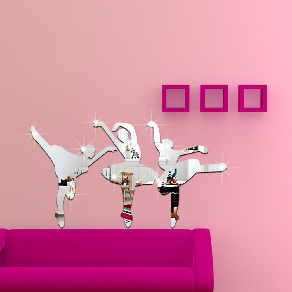 Acquista all'ingrosso Online wall stickers ballet girl da ...