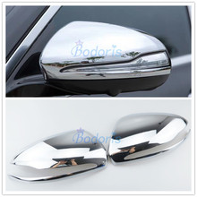 Accessories For Mercedes Benz E Class W213 2017 New C Class GLC Side Mirror Overlay Cover Highlight Silver Chrome Car Styling free shipping brand new chrome side mirror cover for mercedes benz w219 cls class pre facelifted