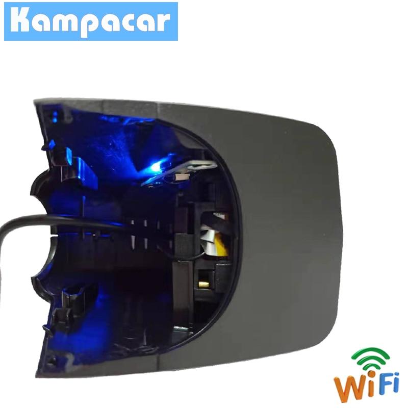Kampacar voiture DVR Dash caméra enregistreur vidéo 1080 P pour Audi A1 A3 A4 A5 A6 Q3 Q5 Q7 TT après 2011 avec intérieur noir 2 Dvrs - 2