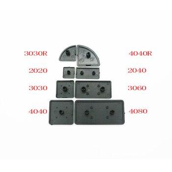 Sıcak satış CNC 3D Yazıcı Parçaları Plastik Uç kapatma başlığı Plakası siyah AB Alüminyum Profil 2020/2040/3030 /3060/4040 naylon Endcap