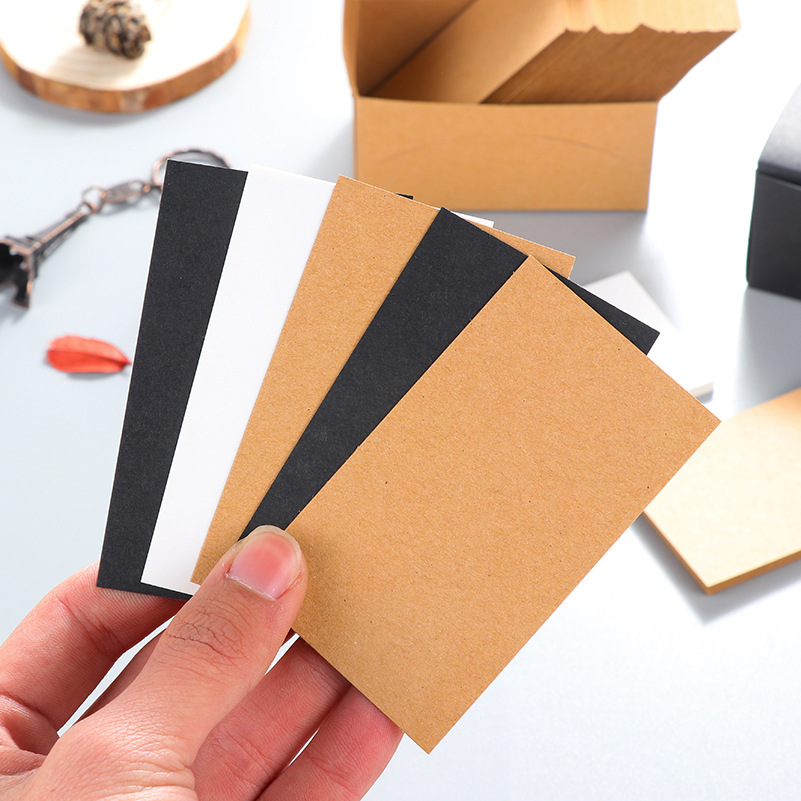 100Pcs/Lot Blank Greeting Cards Kraft Graffiti  Paper Vintage Blank Cards DIY Hand Painted Graffiti Card Message Card Memo Pad 30pcs in one postcard owe you a song romantic love christmas postcards greeting birthday message cards 10 2x14 2cm