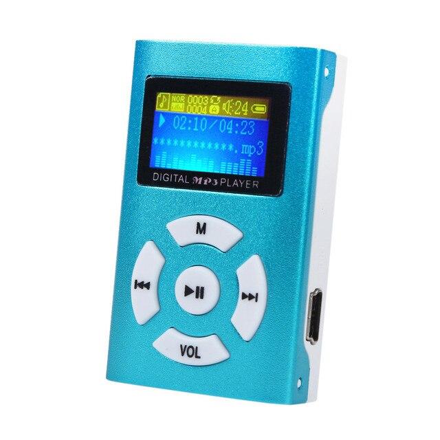 AIKEGLOBAL Hifi USB Mini MP3 reproductor de música LCD pantalla soporte 32GB Micro SD TF tarjeta deporte moda 2017 Nuevo estilo recargable