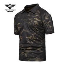 Брендовая Летняя мужская уличная спортивная футболка, камуфляжные футболки с короткими рукавами, быстросохнущие футболки для походов, охоты, рыбалки, камуфляжная футболка для женщин
