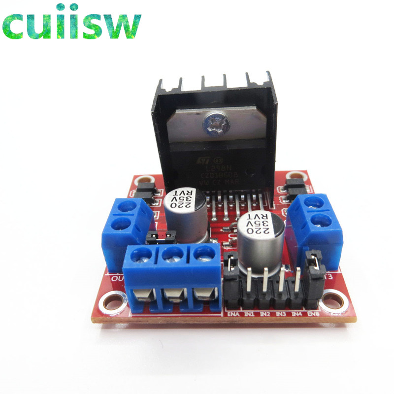 Image 3 - 10pcs/lot New Dual H Bridge DC Stepper Motor Drive Controller Board Module L298N for arduino-in Integrated Circuits from Electronic Components & Supplies