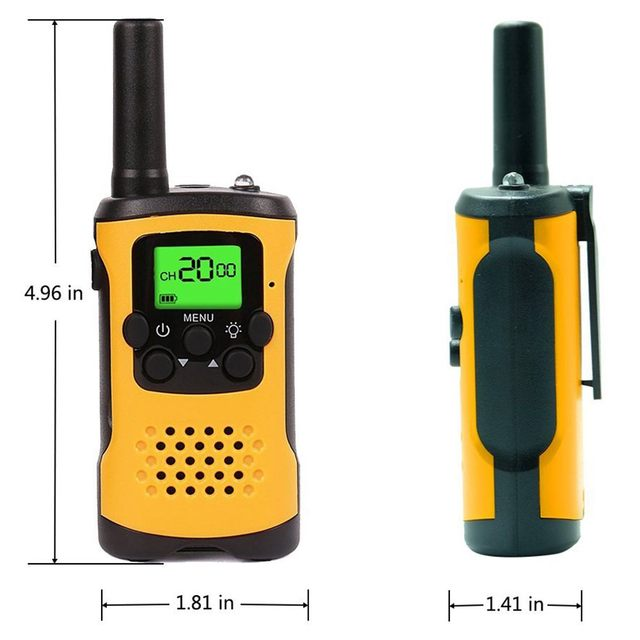 Kids Walkie Talkies, 22-Channel FRS/GMRS Radio, 3-Mile Range Mini Two Way Radios with Flashlight and LCD Screen Gift