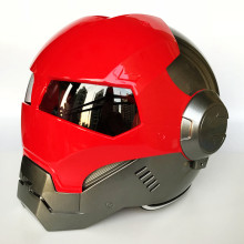 MASEI 610 Helle Rot Grau IRONMAN Iron Man helm motorrad helm halb helm open face helm casque motocross S M L XL(China)