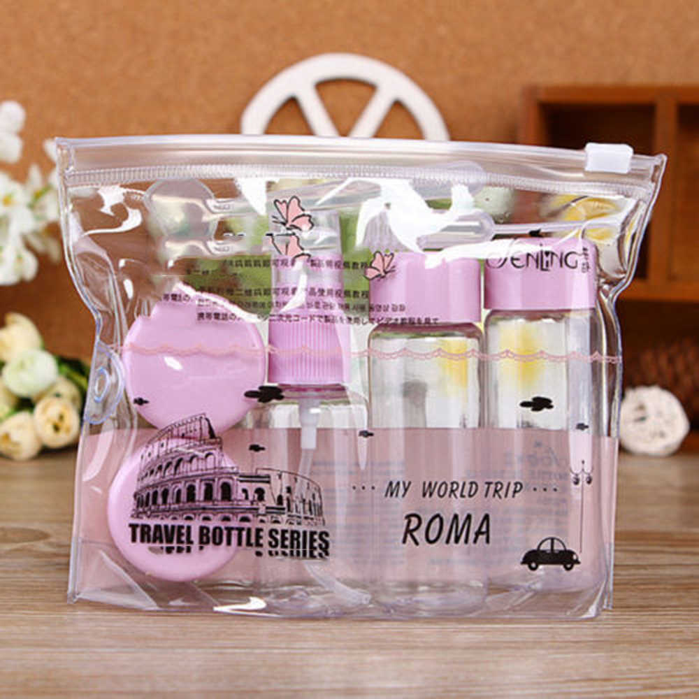7pcs/set Useful Travel Bathroom cosmetic storage bottle Cosmetics Sub-Bottle Cmpty Bottle Set Bottle Travel Accessories