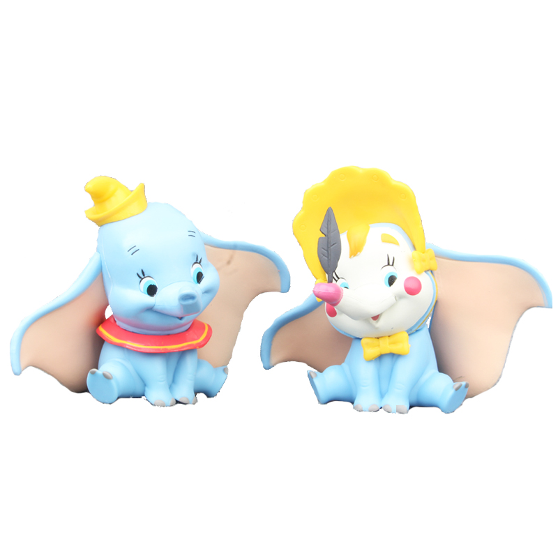 124134839 Disney Toys Cute Cartoon Anime movie 10cm Dumbo PVC Action figure  Decoration Collection Model toys for Children Christmas gift