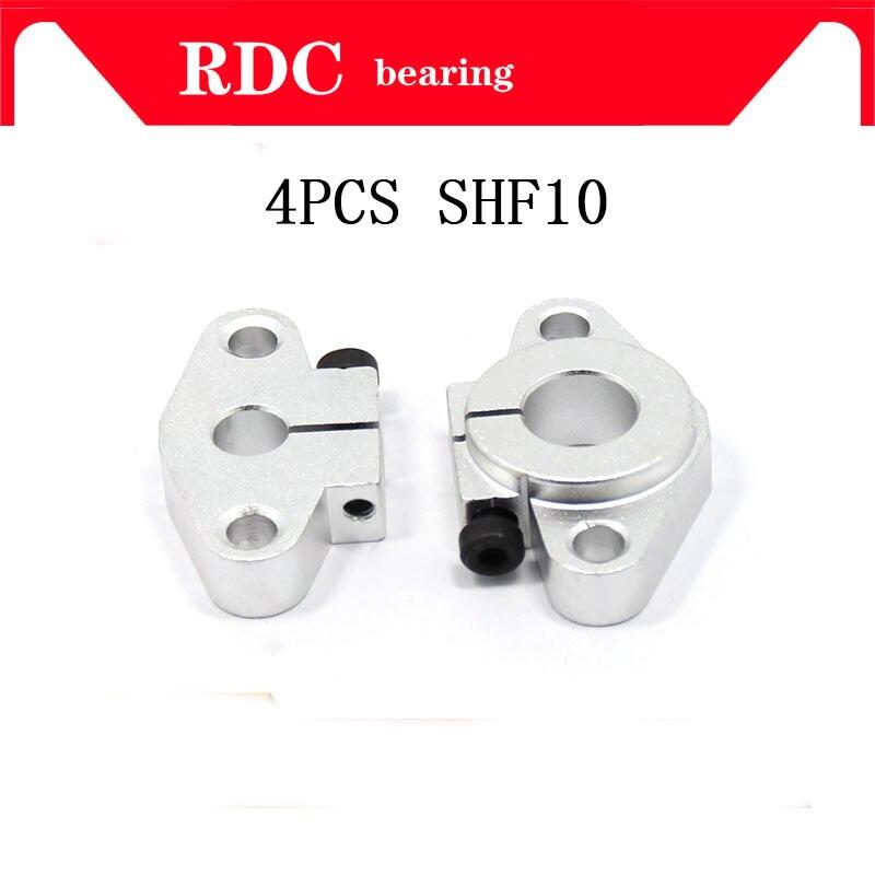 4pcs SHF10 horizontal linear shaft support 10mm Linear Rail Shaft Support XYZ Table CNC SHF Series Rail Shaft High quality стоимость