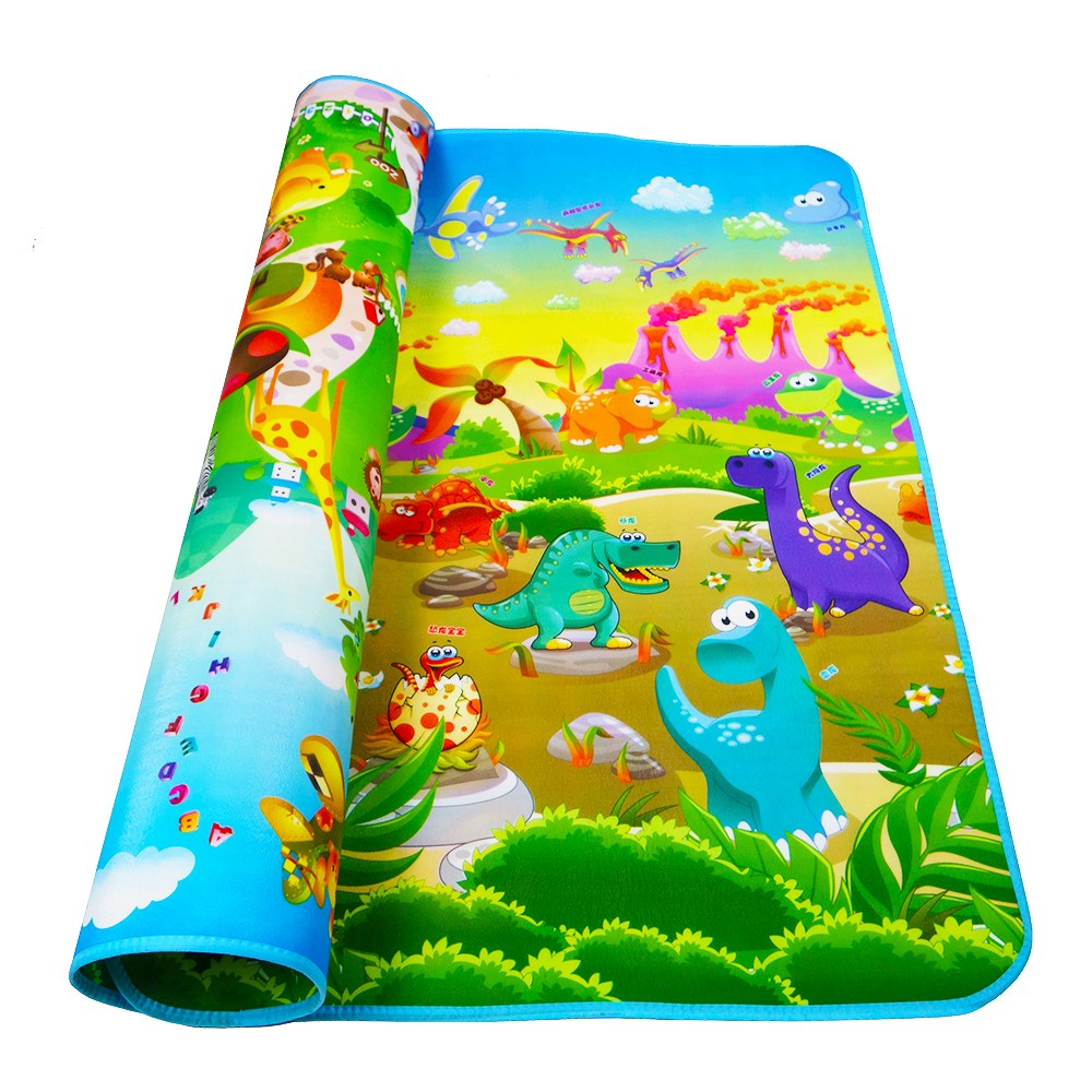 Baby Cartoon Animal Dinosaur Play Crawling Mat Double Surface Carpet Kids Playing Rug Developing Mat for Children Game Pad