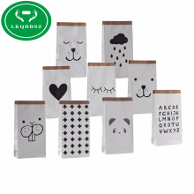 ФОТО   Baby AnimalLetter Kraft Paper Storage Bags Toys Clothes Kids Wall Pocket Children Cute Bags Accessories