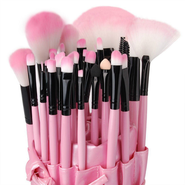 32 UNIDS Caso Pincel de Maquillaje Kit Determinado del Cosmético Pinceles de Maquillaje Kabuki Bolsa Bolsa P32