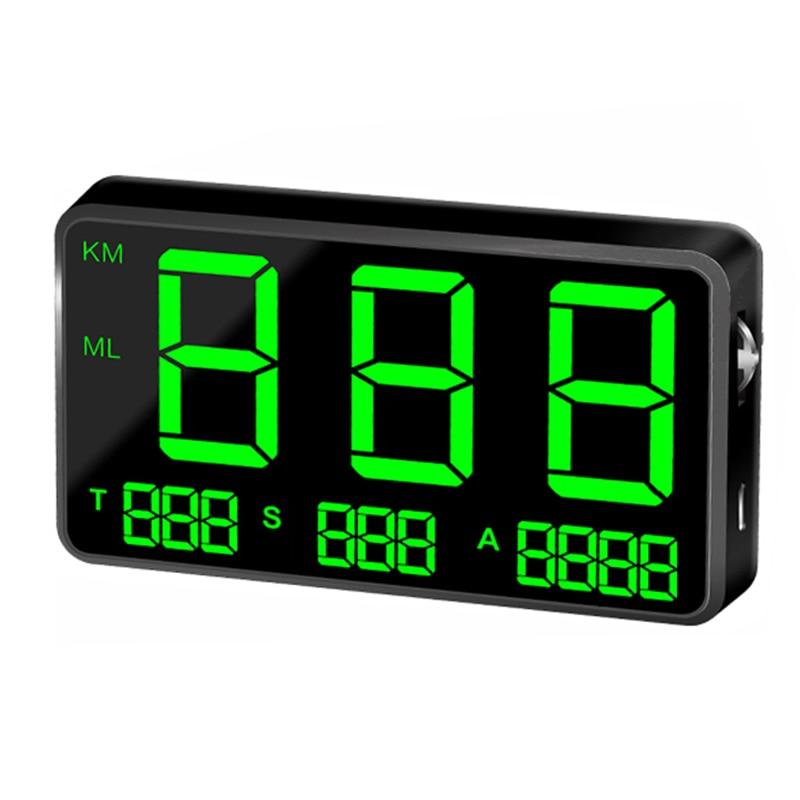 Speedometer HUD Head-Up Display Driving Speed Digital C80 Universal GPS Vehicle Car Speed Warn Satellite M3A1N