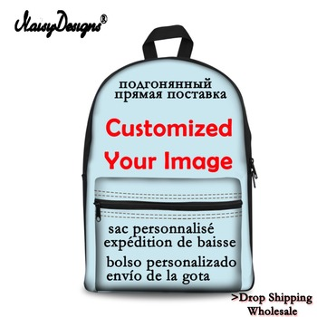 Noisydesigns Customized Individual Image Photo 3D Printing Backpacks Canvas School Bag Fashion Backpacks Travel Backpacks фото