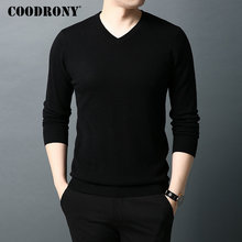 COODRONY Brand Sweater Men Classic Casual V-Neck Pullover Men Pure Color Knitwear Pull Homme Autumn Winter Woolen Sweaters 91064 цена