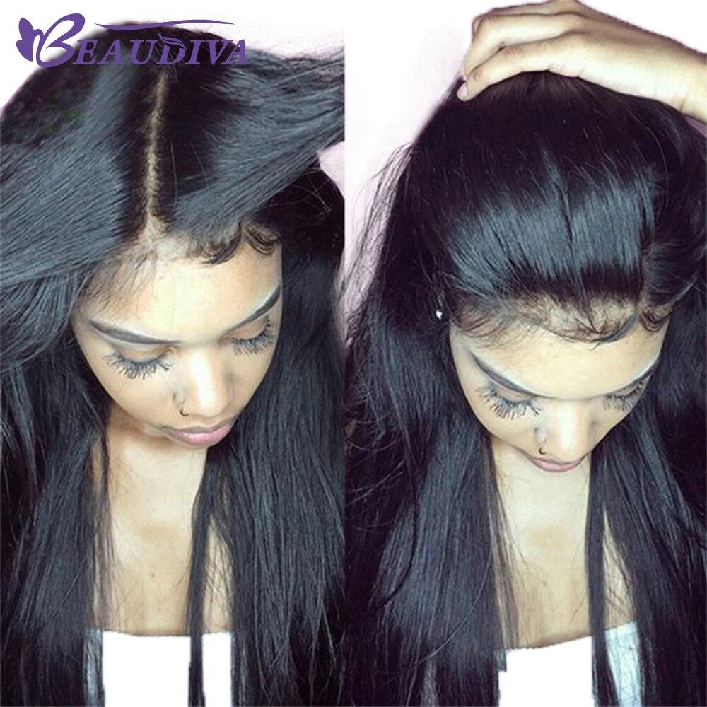 BEAU DIVA короткие парики для черный Для женщин Бразильский прямые волосы 360 кружева фронтальной натуральные волосы парики Бесплатная доставка...