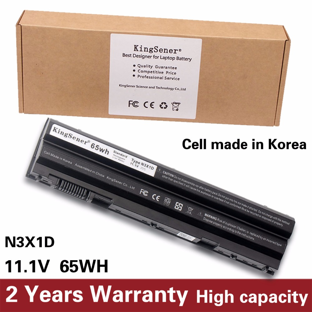 KingSener Korea Cell 65WH N3X1D Laptop Battery for DELL Inspiron 7420 7520 7720 5420 5520 5720 4520 4720 For Vostro V3460 V3560 jigu laptop battery for dell 8858x 8p3yx 911md vostro 3460 3560 latitude e6120 e6420 e6520 4400mah