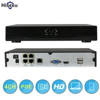 Hiseeu Network DVR Video Recorder Surveillance 4CH POE NVR H 264 P2P Onvif 2 0 For
