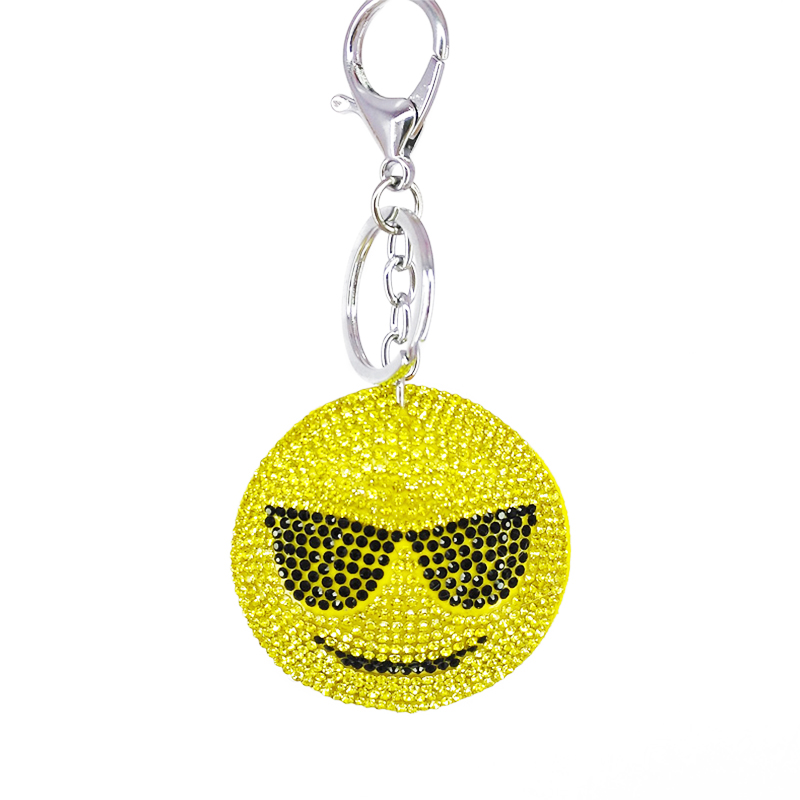New Cute QQ Face Expression Key Chains Funny Round Keychains Phone Decor Bags Personalized Decorative Supplies Friendship Gifts
