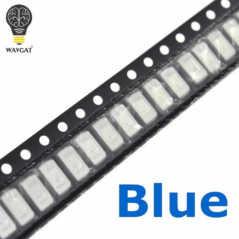 WAVGAT 100 pièces 5730 5630 SMD Diode de éclairage à LED bleue SMD 5730 LED de montage en Surface bleue 460-470NM 3.0-3.6 V Ultra Birght LED