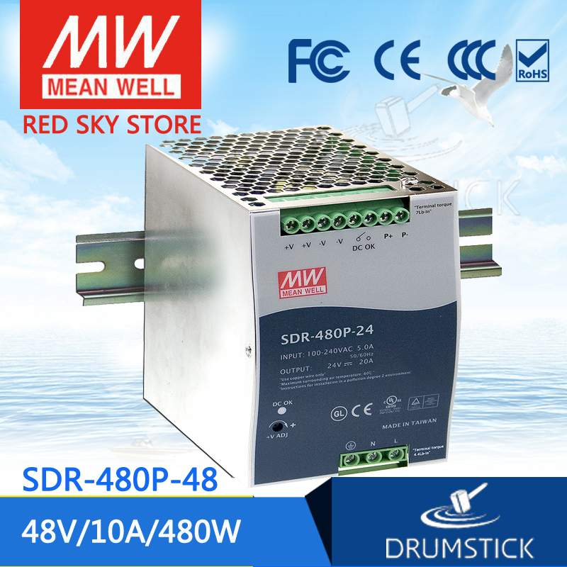 Advantages MEAN WELL SDR-480P-48 48V 10A meanwell SDR-480P 48V 480W Industrial DIN RAIL with PFC and Parallel Function mean well original sdr 480p 24 24v 20a meanwell sdr 480p 24v 480w industrial din rail with pfc and parallel function