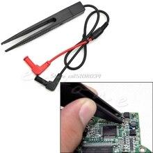 SMD SMT Chip Test Clip Lead Probe Multimeter Meter Tweezer Capacitor Resistance S08 Drop ship