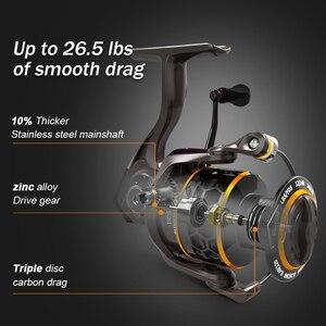 Image 3 - MEREDITH carrete giratorio para pescar, accesorio para pescar con Triple disco de arrastre de carbono de 12KG, máxima potencia de Arrastre, 5,2: 1 2000 3000 4000