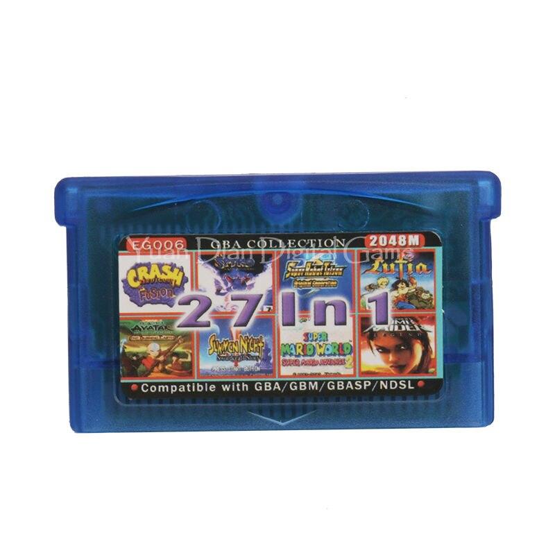 Nintendo gba consola de videojuego cartucho tarjeta colección eg006 idioma inglé