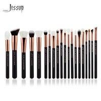 Jessup Rose Gold Black Professional Makeup Brushes Set Make Up Brush Tools Kit Foundation Powder Brushes