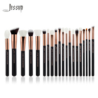 Jessup Rose Gold Black Professional Makeup Brushes Set Make Up Brush Tools Kit Foundation Powder Brushes