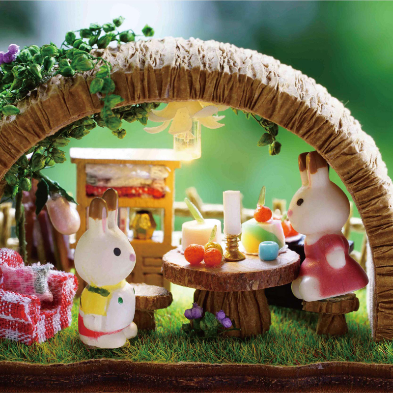 Cute Room DIY Doll House With Furniture Miniature 3D Wooden Miniaturas Dollhouse Toys Gifts Fantasy Forest Y005 E in Doll Houses from Toys Hobbies
