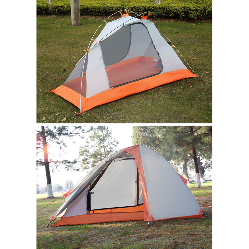 2018 NEW Camping Tent Double Layers Outdoor Fishing Tourist Tent Ultralight 1-2 Person Beach Tent Anti-UV Sun Shade Tent outdoor beach tents shelters shade uv protection ultralight tent for fishing picnic park