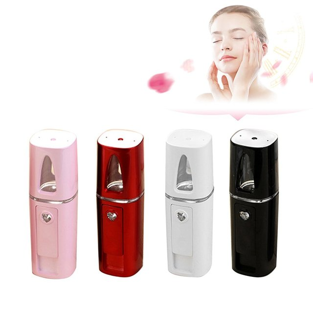 USB Rechargeable Nano Spray Mist Body Facial Steamer Nebulizer Skin Care Beauty Moisturizing Hydrating Sprayer Humidifier Device Facial Steamer