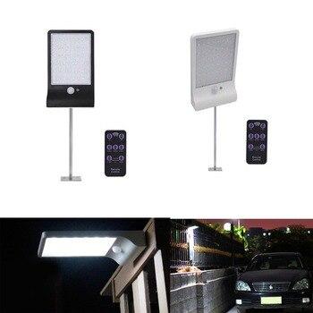 800LM 48 LEVOU Lâmpadas de Rua de Energia Solar Light Sensor de Movimento PIR Jardim Lâmpada de Rua Ao Ar Livre Luzes de Parede À Prova D' Água de Segurança